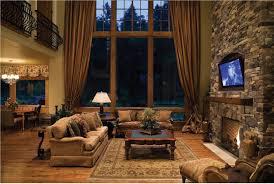 interior warm rustic cabin home interior design ideas nature