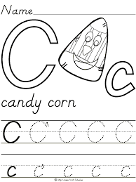 Halloween Preschool Printables Candy Corn Letter
