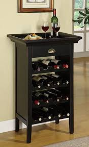 amazon com powell black with merlot rub through wine cabinet
