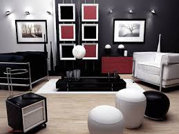 Photos Of Living Room by Black White And Red Themed Living Room Centerfieldbar Com