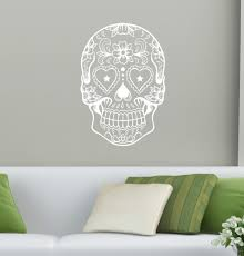 compare prices on boy wall murals online shopping buy low price sugar skull head wall decal wall art home decor wall sticker skull boys room living room