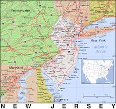 Map Nj Nj New Jersey Public Domain Maps By Pat The Free Open Source