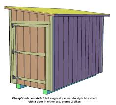 how to build a bike shed plans