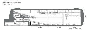 longitudinal floor plan function venues the star sydney