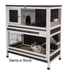 small pet cage indoor lounge 2 storey wooden rabbits or guinea