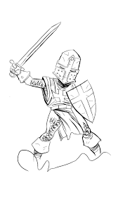 knight in a pose knight coloring pages pinterest knight