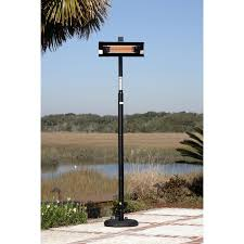 Patio Heater Covers by Pole Mounted Electric Infrared Patio Heater With Pvc Cover Black