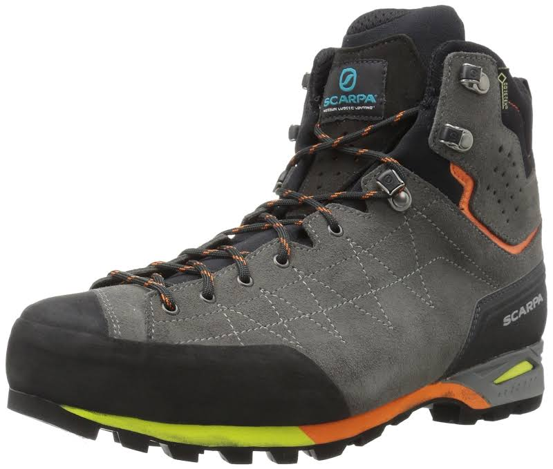 Scarpa Zodiac Plus GTX Backpacking Boots Shark/Orange Medium 46 71110/200.1-SrkOrg-46