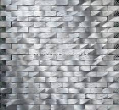 2015 new modern house design 3d diamond aluminum metal mosaic wall