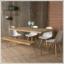 modern reclaimed wood dining table mid century furniture urban