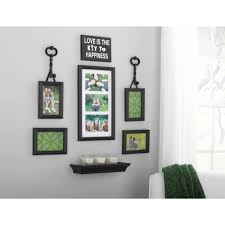 Home Interior Picture Frames by Mainstays 9 Piece Key Expression Wall Frame Set Walmart Com