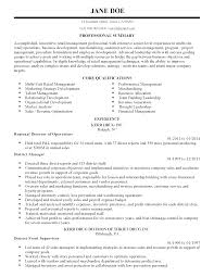 Resume Retail Template Resume For Retail Management