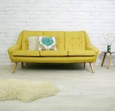 Mid Century Modern Sofas by Vintage Retro Mid Century Mustard Danish Style Sofa Settee 1950s