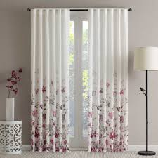 108 Inch Long Blackout Curtains by Regency Heights Regency Heights Isla Floral Sheer 108 Inch Rod