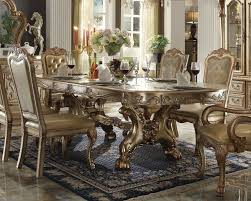 Acme Furniture Dining Room Set Dresden Dining Table Gold Patina By Acme
