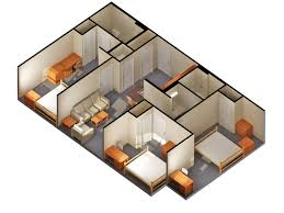 Small 2 Bedroom Cabin Plans 2 Bedroom House Plans Home Design Ideas Throughout