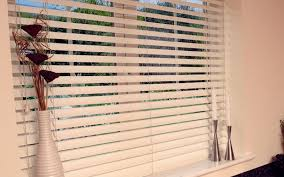 decorating charming white horizontal faux wood blinds for window