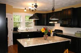 kitchen awesome dark kitchen cabinets with light island as the kitchen