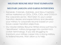 Military Resumes SlideShare MILITARY RESUME HELP