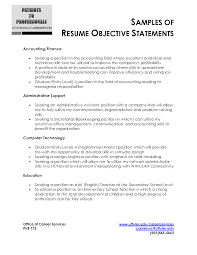 General Resume Objective Statements cash sales receipt  wish list     Nomoretolls     Objective Statements For Resumes With Education And Experience For Accounting Or Financial Or Administrative Support Copy Experience For General Manager