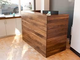 Custom Studio Desks by Solid Walnut Reception Desk Bay Area Custom Furniture