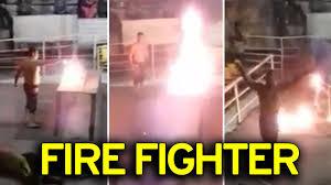 Mexican wrestler suffers horrific third degree burns after fire     Mirror Video thumbnail  Wrestler set on fire as stunt goes wrong