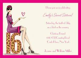 Birthday Invitation Cards Models Sweet 16 Invitations Templates Redwolfblog Com