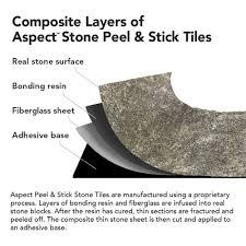 Backsplash Tile For Kitchen Peel And Stick Amazon Com Aspect Peel And Stick Stone Overlay Kitchen Backsplash