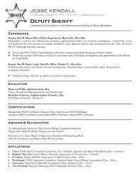 Law Resume Samples by Resume Sample Law Enforcement Professional Certifications And