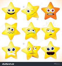 smiley cartoon stars clip art with various expressions save
