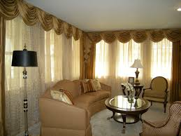 luxurious window curtains with white silk curtains combined l