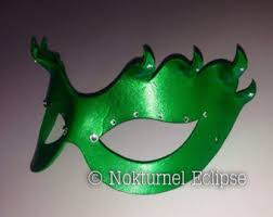 Poison Ivy Halloween Costume Kids Poison Ivy Mask Etsy