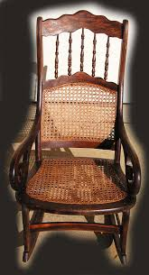 Antique Rocking Chair Prices Grecian Scroll Arm Spindle Back Grain Painted Caned Rocking Chair