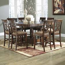 signature design by ashley leahlyn 9 piece cherry finish counter signature design by ashley leahlyn 9 piece counter table extension set item number