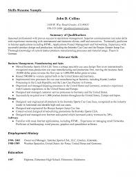 Qualifications Summary Resume Example by Sample Resume Skills And Qualifications Resume For Your Job