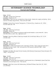 lab technician resume sample best photos of veterinary technician resume postings veterinary veterinary technician resume examples
