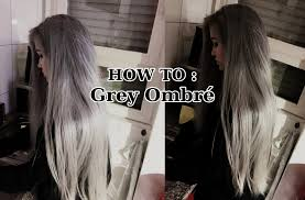 Grey Human Hair Extensions by How To Grey Ombré Easy Youtube