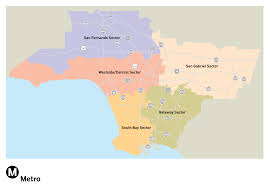 Los Angeles County Map by La Metro Home Maps U0026 Timetables