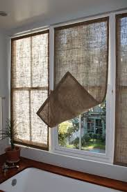 best 25 diy bay window curtains ideas on pinterest diy bay last week i made some new burlap window coverings for the master bathroom i made