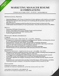 Online Marketing Manager Resume by Marketing Resume Sample Resume Genius
