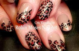 Robin Moses Nail Art by Easy Leopard Print Nails Tan And Black Traditional Nail Art