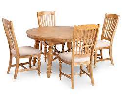 lake house 5 pc round dining room set furniture row