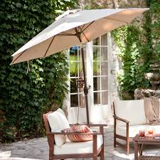 Patio Umbrella Side Table by Create Comfort In Backyard Patio With Freestanding Umbrellas