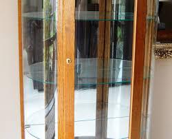 Oak Curio Cabinet Curio Cabinet Lighted Oak Curio Cabinet We Are Downsizing