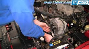 how to install replace engine serpentine accessory drive belt ford