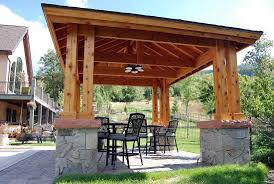 Custom Gazebo Kits by Plan For An Easy 16 U0027 X 20 U0027 Diy Solid Wood Pergola Or Pavilion
