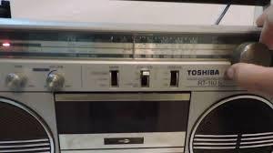 radio gravador boombox toshiba modelo rt 110s funcionando youtube