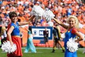 photos denver broncos cheerleaders fans dress up for halloween