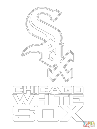 chicago white sox logo coloring page free printable coloring pages
