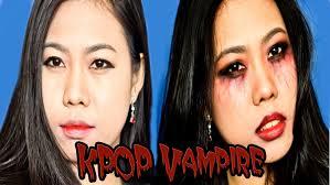 Halloween Vampire Look Asian Halloween Makeup Korea Kpop Vampire Collab Video With
